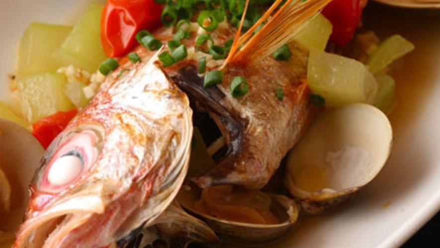 ■のどぐろアクアパッツァ(別注)■  ノドグロを使ったイタリア創作料理です。