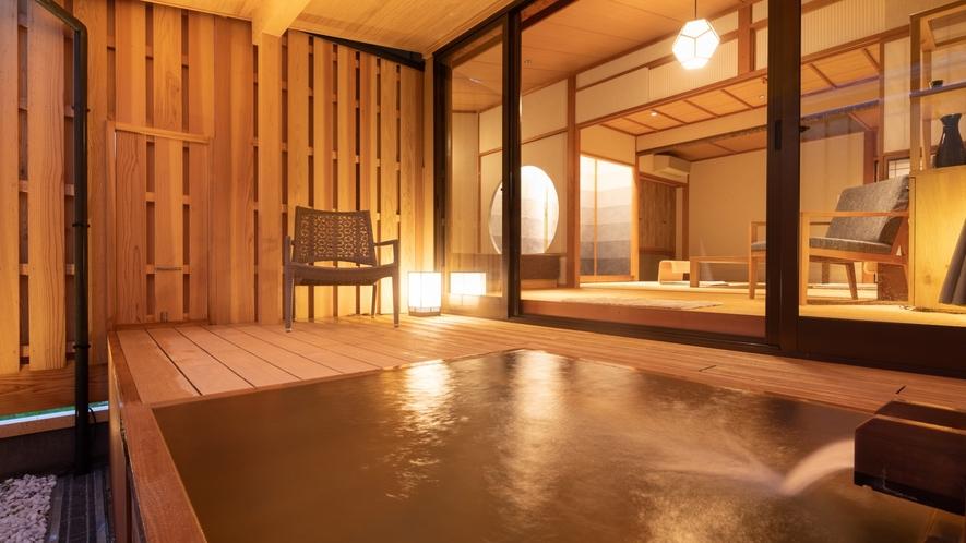 露天風呂付客室「なでしこ」露天風呂