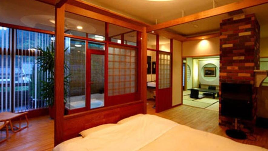 ■特別室■ゆったりサイズのベッドをご用意しております。