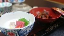 お料理(おつくりと鯉)