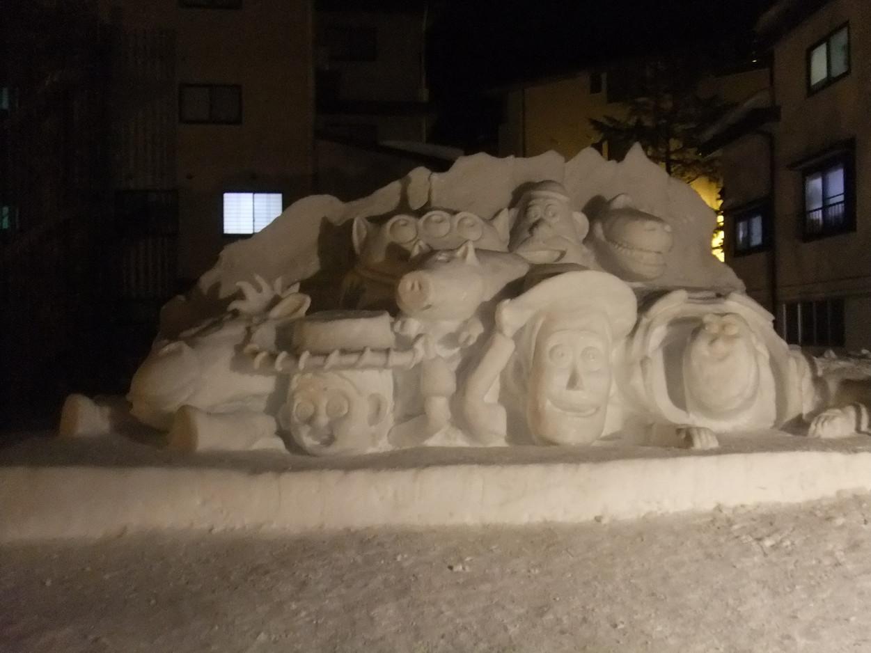 昔の雪像1