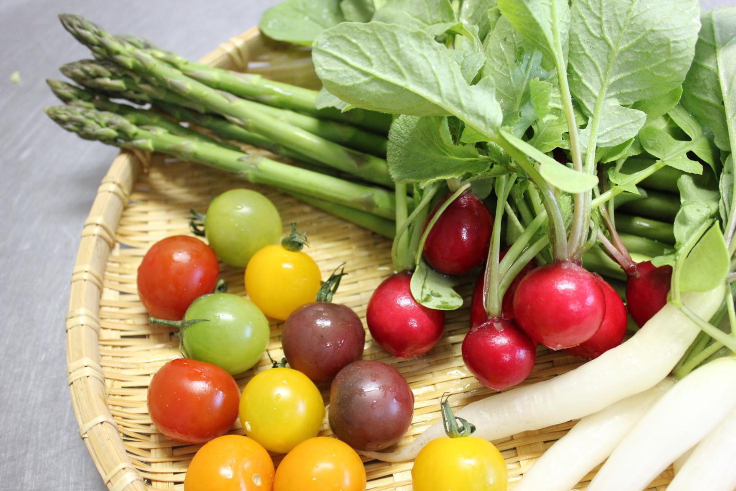 彩りを添える野菜達