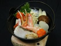 ★食欲そそる香り♪海鮮たっぷり鍋(一人用 加熱前)♪カニ・エビ・ホタテ・白身魚etc