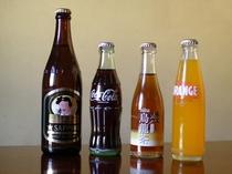 ■冷蔵庫内の瓶ジュースや 福島県限定 野口英世版 サッポロ黒生ビール