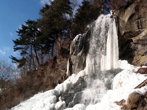 乙女滝・氷・横・500