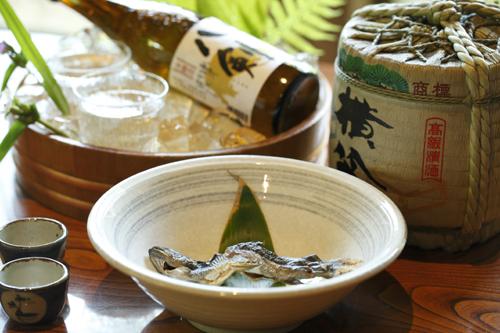 岩魚の骨酒イメージ