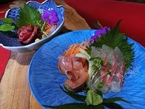 岩魚、シナノユキマスの盛り合わせ