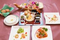 舟盛りと伊勢エビ料理の伊豆海鮮プラン