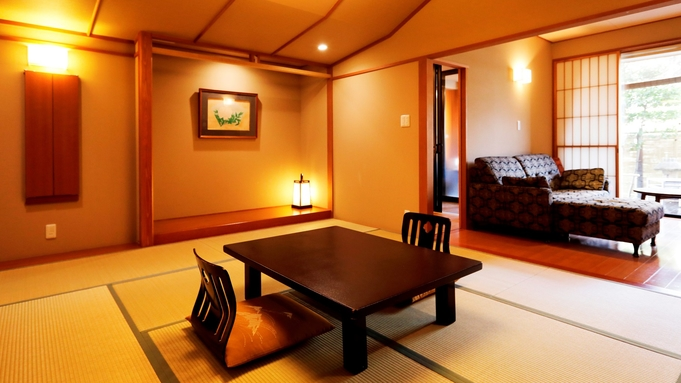 【禁煙室】露天風呂付和室10畳☆食事は個室食事処