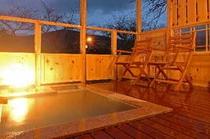 夕景の霞館 露天風呂付き客室