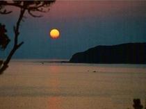 千尋岬の夕日