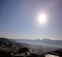 外輪山山頂からの阿蘇※2011年12月31日(AM9:00)撮影