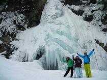八幡平の隠れパワースポット 氷の七滝へ