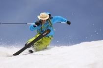 八幡平で残雪スキー