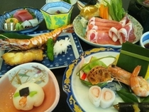 夕食:黒豚しゃぶしゃぶ会席料理プラン★鹿児島県産黒豚をメインとした和食会席料理となります。