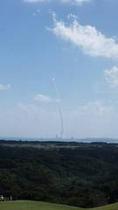 レストランから見えるロケット