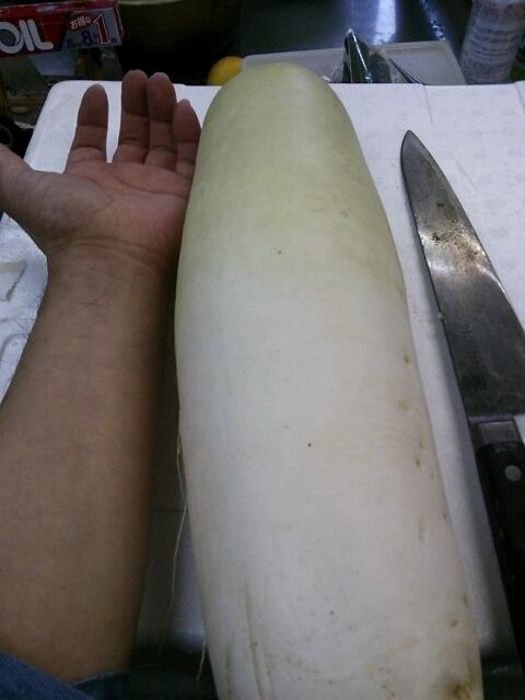 湯島大根 離島で取れる冬限定の特産品です。