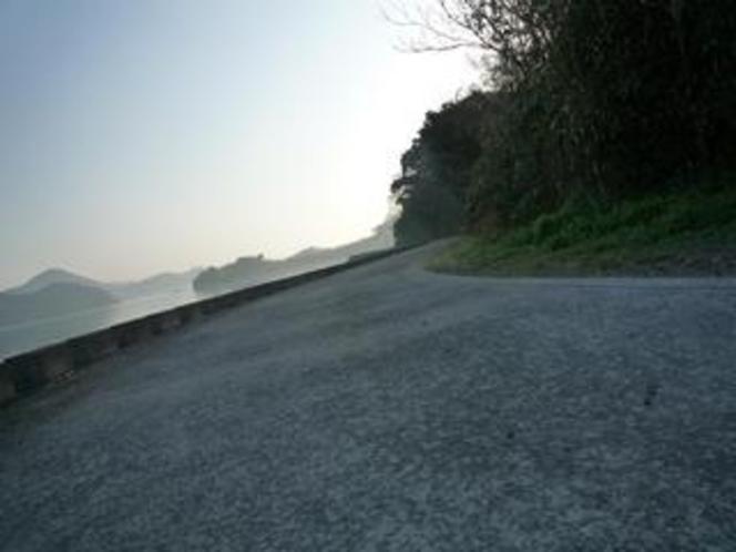 散歩道 ⇒入り江の対岸地点
