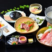 【夕食一例】お夕食の献立一例。地の食材をお楽しみ下さい。
