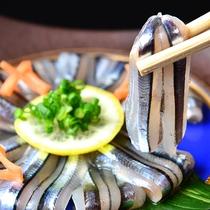 【夕食一例】きびなごのお刺身