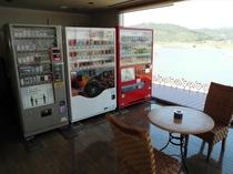 休憩所の自販機