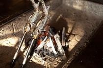 囲炉裏料理 山女魚塩焼