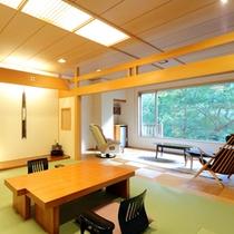 【フローリングリビング付き客室】和10畳+竹フローリング8畳リビング+マッサージチェア+DVD