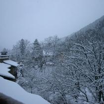 外観(雪が覆う幻想的な冬の景観)