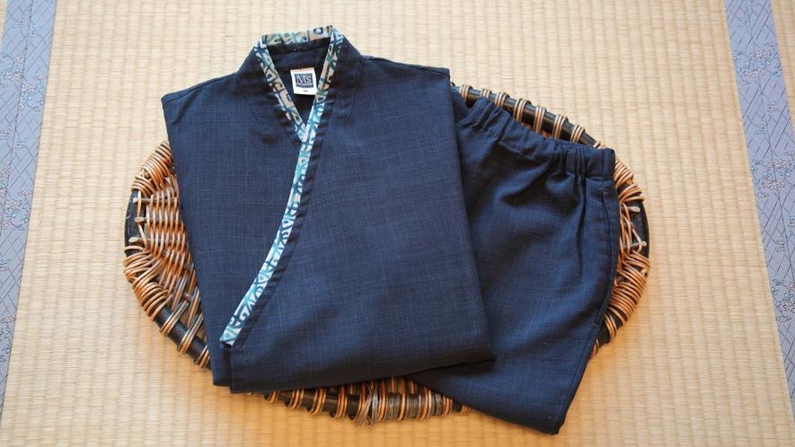 【作務衣】通常の浴衣とは別に作務衣のご用意もございます。
