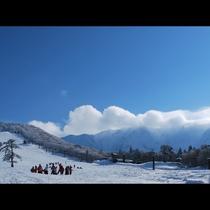 大山ホワイトリゾート ゲレンデまで徒歩1秒の好立地