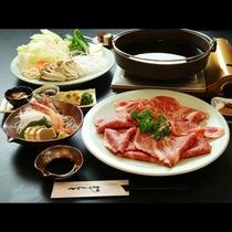 王道のすき焼きで決まり!!鳥取和牛すき焼きコース
