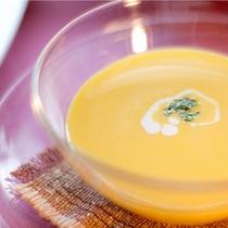 コーススープ一例:優しいお味、キャロットスープ