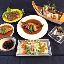 【夕食一例】定番!獲れたての地魚中心の和食料理