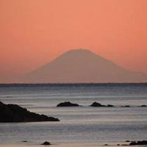 お部屋からみる絶景の富士山