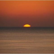 水平線から昇る朝日は感動!