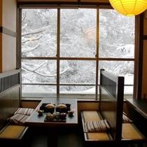 雪景色 朝食