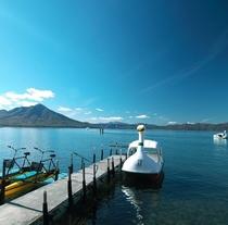 ■夏の支笏湖はボートやレンタサイクル、トレッキングに釣りなどアクティビティ満載!