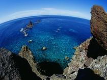神威岬の先端