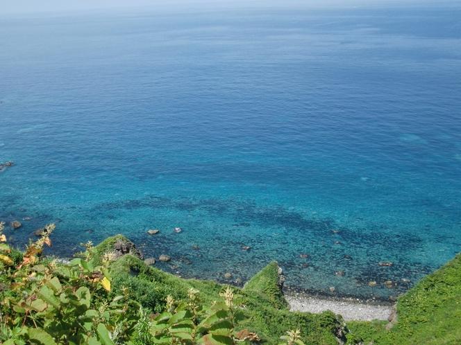 神威岬の積丹ブルー
