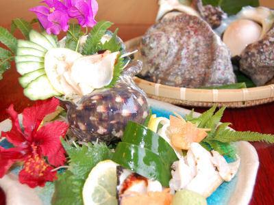 夜光貝の姿造り