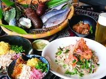 郷土料理と新鮮な海の幸