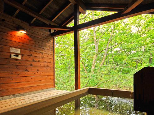 ログハウスタイプ露天風呂一例