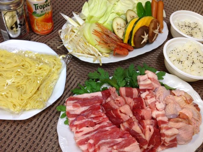 焼肉(食材デリバリー)セット例