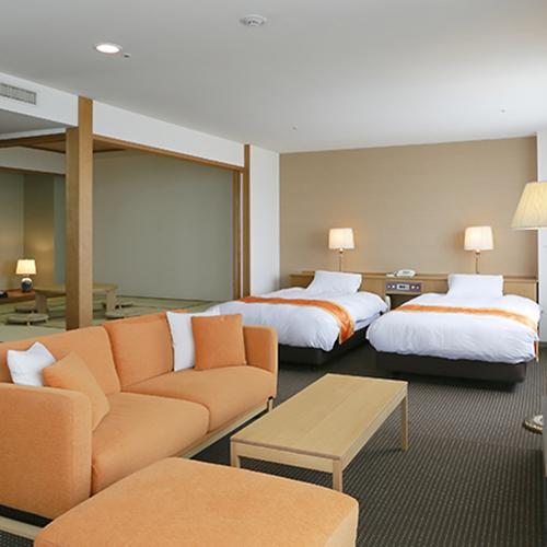 【スイートルーム】72m2ツインベッド+和室スペース8畳(イメージ)
