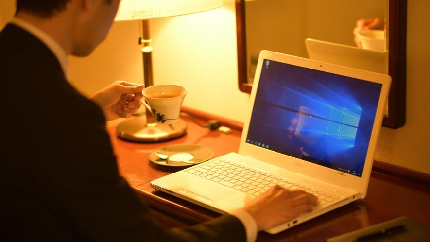 WIFI無料!!ホテル内どこでもネット接続できます♪