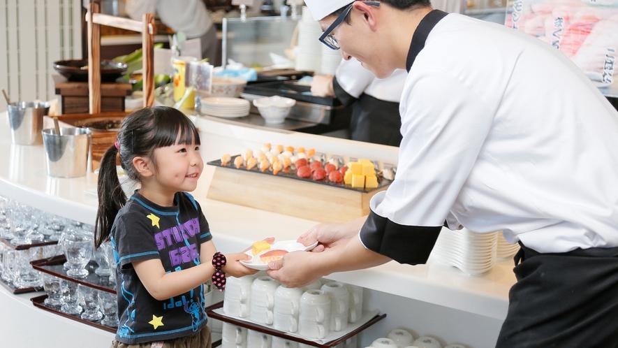【夕食】お寿司をどうぞ♪(イメージ)