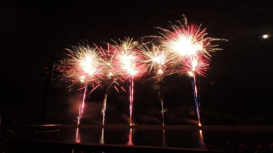Hotelからお車で約2分♪【那須高原りんどう湖ファミリー牧場】花火大会