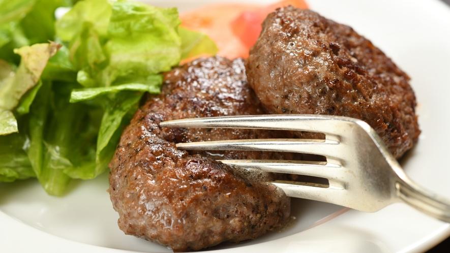 【夕食】那須高原和牛ハンバーグ(イメージ)