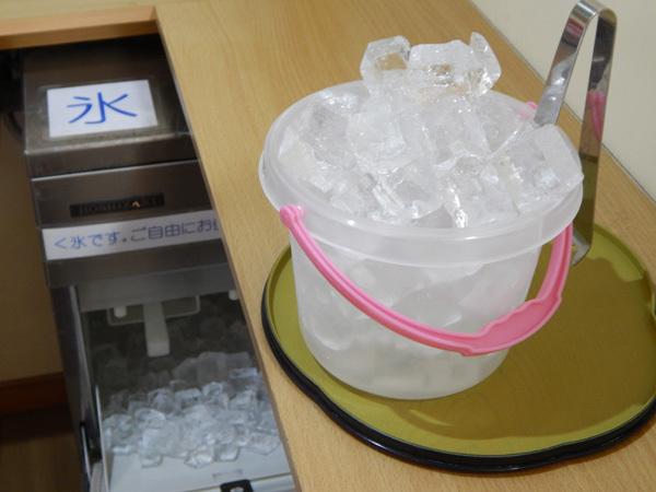 氷などをお部屋にお持ちいただけます。