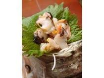14. サザエのお刺身はコリコリとした食感が命!獲れたてならではのその食感と香りは是非食べて!
